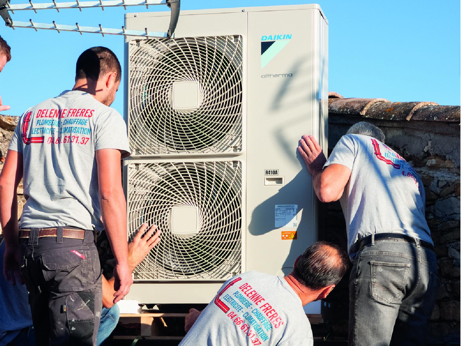 Installation d'une pompe à chaleur en extérieur sur un réseau radiateur